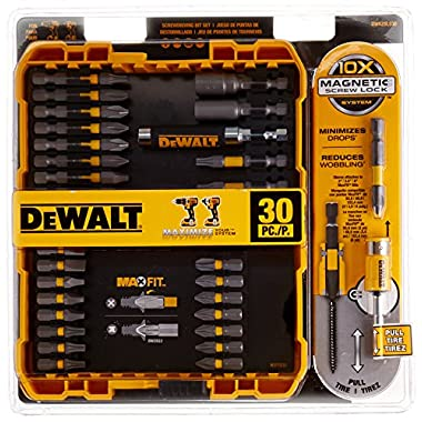 DEWALT DWA2SLS30 MAXFIT(TM) Screw Lock Set (30-Piece; with Sleeve)