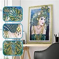 ダイヤモンド刺繍キット1ピース特殊形状ダイヤモンド塗装DIY 5Dパーツダイヤモンドクロスステッチガールクリスタルラインストーンダイヤモンド刺繍4_40 * 50cm