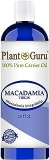 Macadamia Nut Oil 16 oz Virgin Unrefined Cold Pressed 100% Pure Natural - Skin, Body And Face. DIY Soap, Creams and Lip Balm Making
