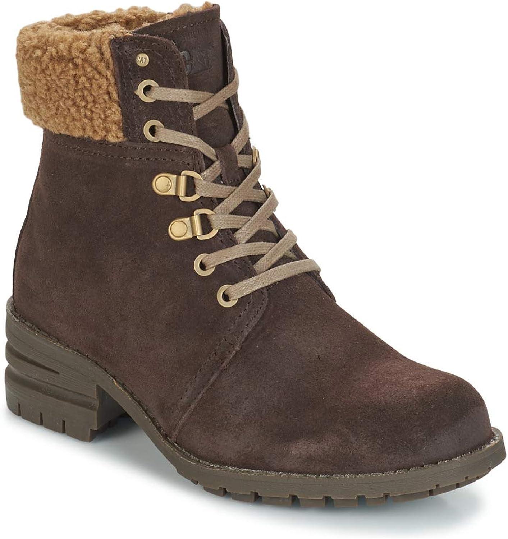 CAT Lifestyle Womens Cora Fur Lace Up Boot Dark Brown Size UK 8 EU 41