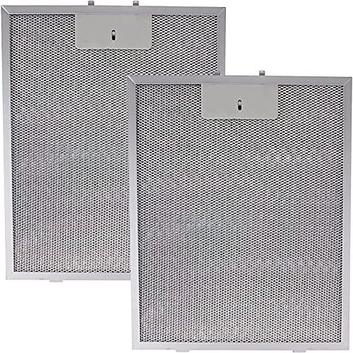 SPARES2GO Filtro de grasa de metal compatible con campana Bosch (310 mm x 250 mm, 2 unidades)