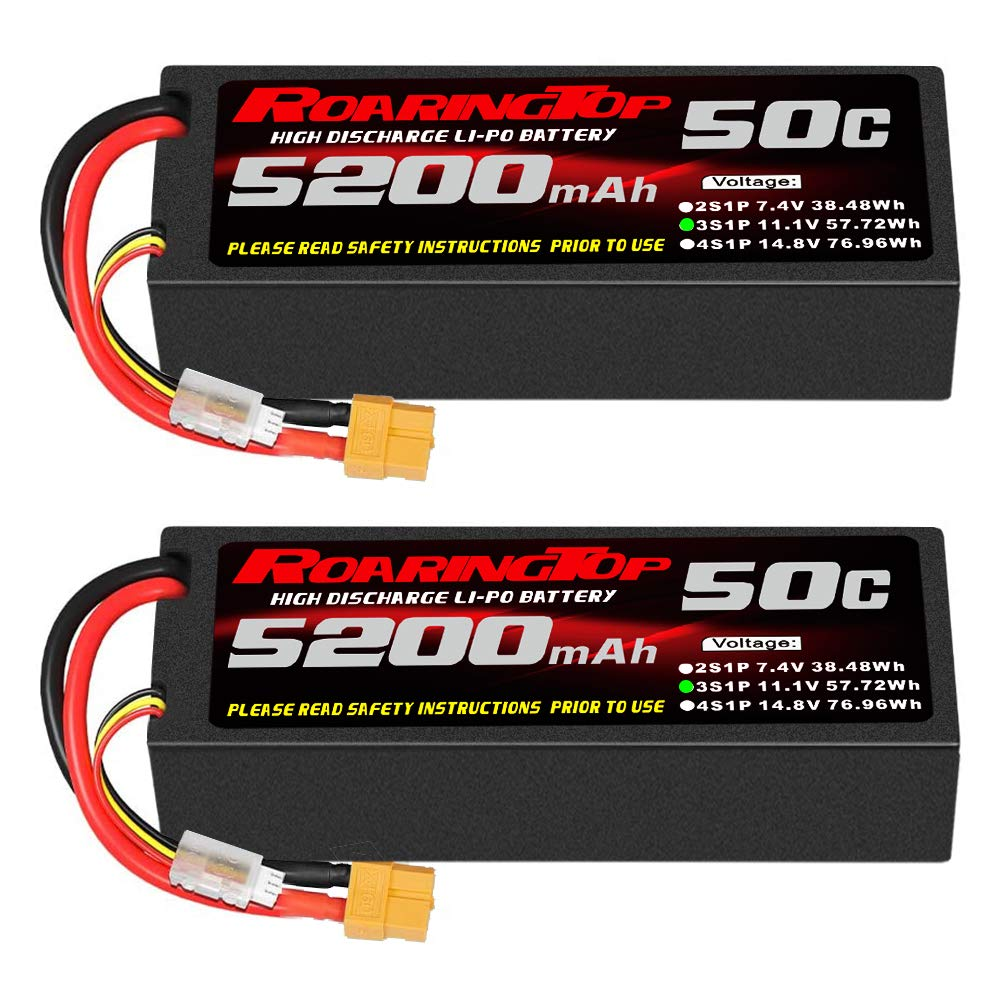2 Baterias LIPO 11.1V 5200mah 50C 3S XT60 Plug RoaringTop