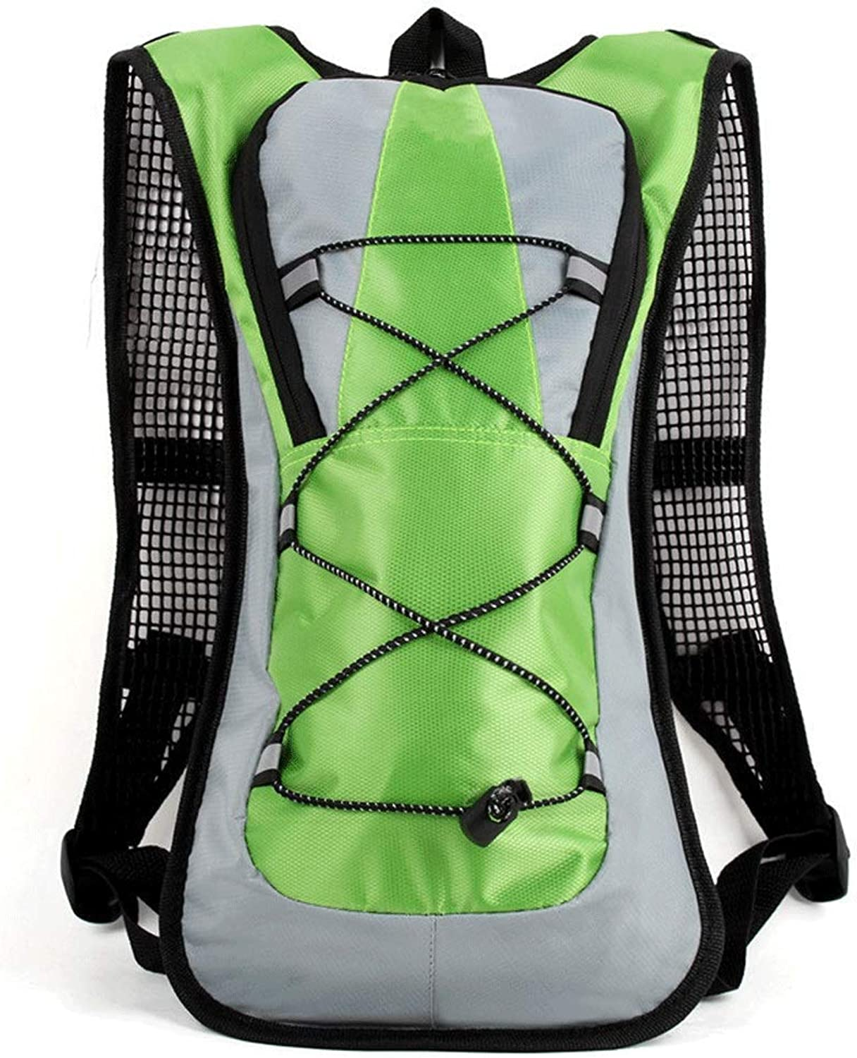 HKJhk Outdoor Sports Bike Riding Hiking Hiking Running Men and Women Shoulders Large Capacity Backpack (color   Green)