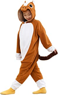 Kids Unisex Animal Onesie Pajamas Cosplay Halloween Costume Grey Wolf Gifts
