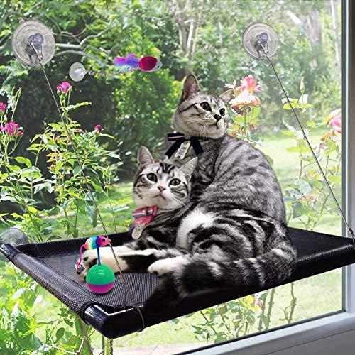 Percha de gato Percha de ventana de gato Hamaca para gatos con ventana Cama hamaca con ventana para gatos Asiento de ventana para gato Kitty Window Sunny Seat