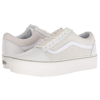 Vans Old Skool Platform ((Leather) Snake/White) Skate Shoes
