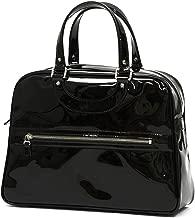 [JACQUES LE CORRE【ジャック ル コー】]ハンドバッグ LISBON 小 0038 K2 BLACK カーフエナメルレザー ブラック