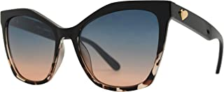 Womens Cateye Sunglasses with Heart Accent, UV Protection