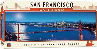 MasterPieces Cityscapes Panoramic Jigsaw Puzzle, San Francisco, California, Golden Gate Bridge, Photographs by James Blakeway, 1000 Pieces