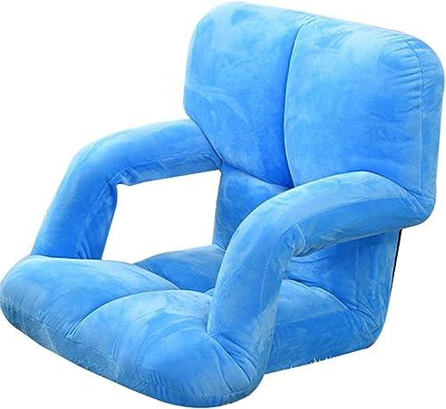 FOTEE Lazy Sofa Bodenstuhl, Kind liegen Faltbar Lounge Chair beim Fernsehen oder Lesen,Blau_95x58x12cm