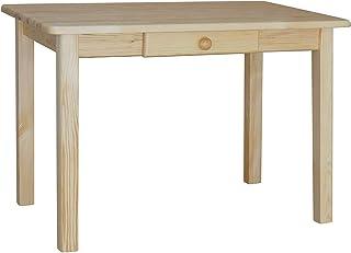 koma Table de salle à manger avec tiroir - En pin massif - Pour restaurant - 60 x 80 cm