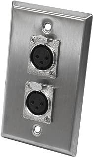 Seismic Audio SA-PLATE2 Dual XLR Female Stainless Steel Wall Plate