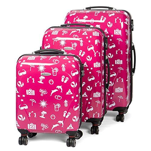MasterGear Travel Line Set di valigie, 77 cm, 36 liters, Rosa (Rosa Paradise)