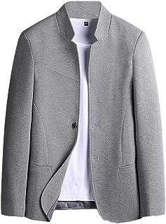 Schoon Men Casual Slim Fit 2 Button Stand met lange mouwen kraag Blazer Jacket Sport Coat Opgeruimd
