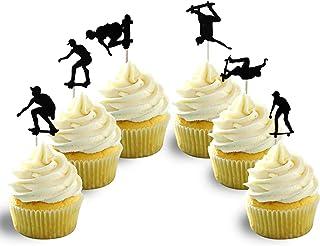 Skateboarding Cupcake Topper Card Stock 12 per Pack Cupcake studio 54 dancing machine soul glissade skim flow