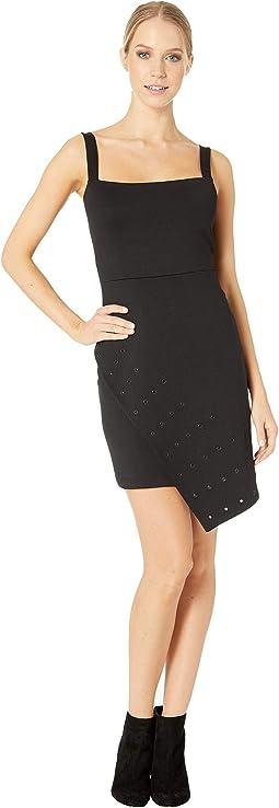Overlay Grommet Skirt Dress