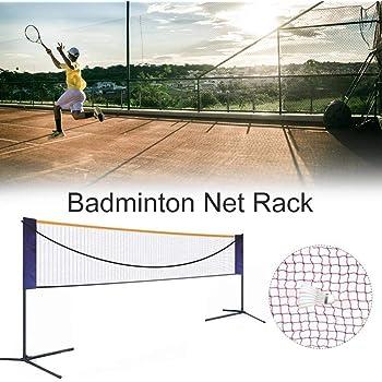 Redes Soporte De Tenis Plegable Badminton Net Rack Port/átil Plegable Simple Est/ándar M/óvil Lugar Exterior Neto Mejor Regalo Color : Black, Size : Net Width=410cm