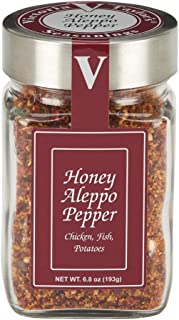 Honey Aleppo Pepper - 6.8 oz Jar. - Victoria Gourmet Spices and Seasoning - Recommended for chicken, fish, pork, and potato dishes.