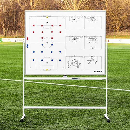 FORZA 60in x 47in Wheeled Sport Coaching Whiteboards   Double-Sided Design   5 Sport Options (Soccer)