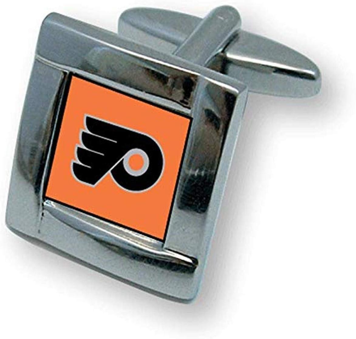 NHL Philadelphia Flyers Square Links Cuff Max 60% OFF Sales