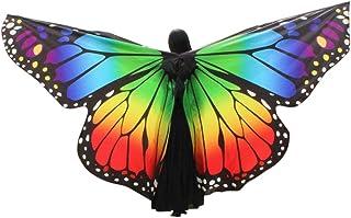 schmetterling kostüm,Mitlfuny Schmetterling Flügel Schal Schals Nymphe Pixie Poncho Kostüm Zubehör für Zeigen Täglich Party Schöner Chiffon Schmetterlingsflügel Schal Cosplay Kostüm