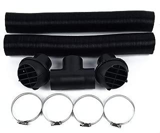 UKSAT Auto Heater Duct Hose,60mm Warm Air Vent Outlet T Piece Car Auto Heater Duct Parking Vent Hose Extendable for Webasto