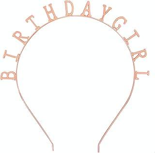 عصابة رأس على شكل تاج عيد ميلاد للفتيات من إليهير، إكسسوارات شعر للحفلات، 1.5 سم وحروف 0.8 سم