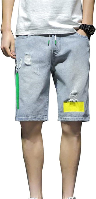 LLTT Mens Hardwearing Comfortable Trousers Summer Denim Shorts