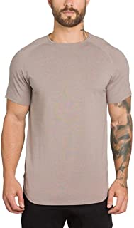 Wintialy Men's Gyms Crossfit Bodybuilding Fitness Muscle Short Sleeve T-Shirt Top Blouse