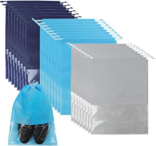SGHUO Travel Shoe Bags, Non-Woven Shoe Storage Organizer with Clear Window for Men and Women