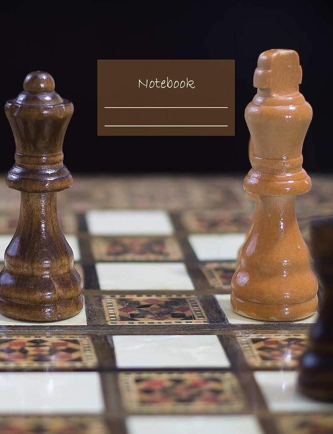 """幅吐く巻き戻すNotebook: Composition Notebook. College ruled with soft matte cover. 120 Pages. Perfect for school notes, Ideal as a journal or a diary. 9.69"""" x 7.44"""". Great gift idea. (Chess pieces cover)."""