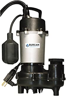 BURCAM 300620Z 1/2 HP Cast Iron Submersible Sump Effluent Pump