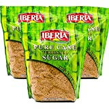 Iberia Turbinado Sugar 2 Lb. (Pack Of 03) Sparkling Golden Pure Raw Cane Turbinado Sugar Bulk, 3...