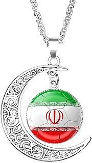 Persian Pahlavi Durbar Drapeau Médaillon Collier Chaîne shir Khorshid Farvahar Cadeau