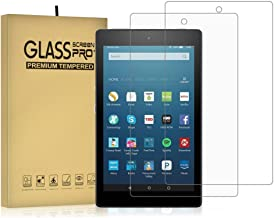 DIEBI 2-Pack Temper Glass Screen Protector for All-New Fire HD 8 9H Hardness Crystal Clear Scratch Resistant All-New Fire HD 8 Tablet (2016 2017 2018 2019 Release)