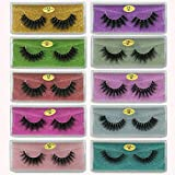 Mink Eyelashes Wholesale 10 Style 3D Faux Mink lashes Reusable Handmade Natural Lashes False Eyelashes Pack In Bulk (10 Pairs/package)