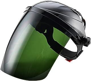 Zhi Jin Strong Adjustable Safety Face Shield Visor Mask Anti UV Infrared Scratch Splash Helmet Eye Protector Black