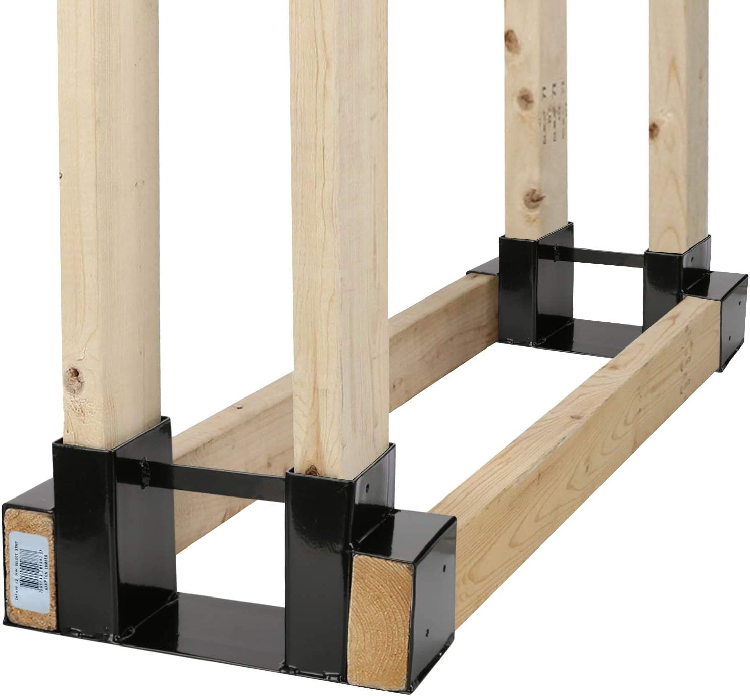 Outdoor Firewood Log Rack Bracket Wood Storage Kit online Cheap mail order specialty store shop Ho Fireplace