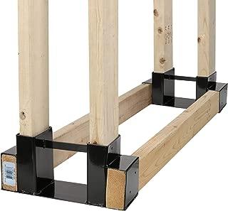 Outdoor Firewood Log Rack Bracket Kit, Fireplace Wood Storage Holder - Adjustable to Any Length (2-Bracket Kit)