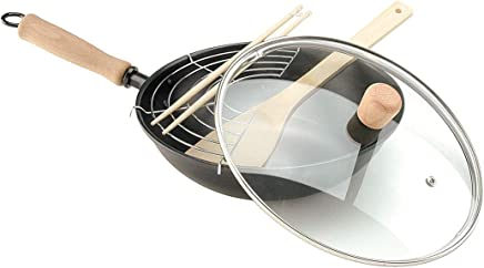 Oroley - Thai Wok Sartén de Hierro para Todo Tipo de Cocinas, 28 cm