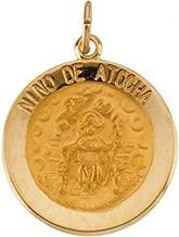 PicturesOnGold.com 14K Gold Nino De Atocha Religious Medal