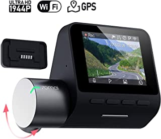 70mai Dash Cam Pro 1944P FHD Features Built-in Wi-fi, Voice Control, Emergency Recording, APP Control Dashboard, G-Sensor, WDR, 140° Wide Angle CAR Smart DVR with Night Vision, Parking Monitor