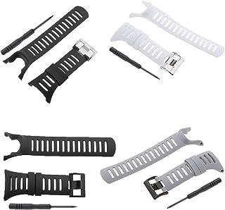 Baoblaze 4 Sets Waterproof Silicone Wristwatch Strap for Suunto Ambit3 Ambit 2 Ambit 1