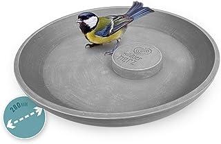 wildtier herz I Bain pour Oiseaux Sauvages Ø 28cm I Abreuvoir, Bassin d'eau I Salle de Bain pour Animaux Sauvages de Jardin
