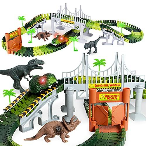 Lydaz Race Track Dinosaur World Bridge...