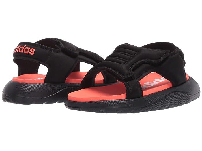 adidas Kids  Comfort Sandal (Infant/Toddler) (Black/Solar Red/White) Kids Shoes