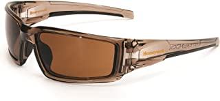 Uvex by Honeywell Hypershock Safety Glasses, Brown Frame with Espresso Lens & Uvextreme Plus Anti-Fog Coating (S2961XP)