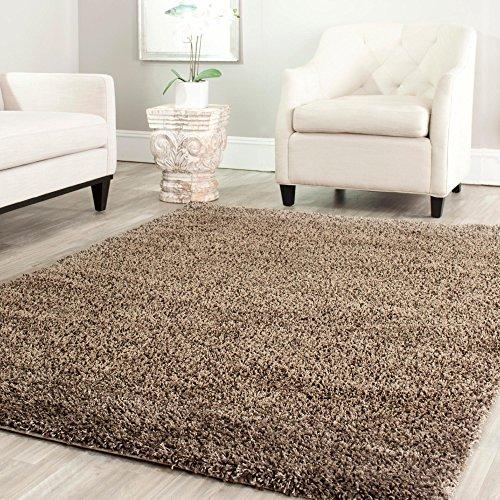 Bravich RugMasters Mocha/Dark Beige Large Rug 5 cm Thick Shag Pile Soft Shaggy Area Rugs Modern Carpet Living Room Bedroom Mats 120 x 170 cm (4' x 5'6)