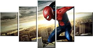 Fukcarry 5 Piece Frameless Printed Spiderman Poster Prints Canvas Pictures Paintings on Canvas Wall Decor Art for Home Decor Unframed Poster