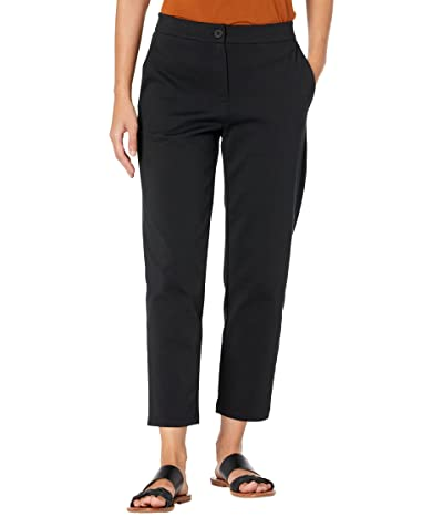 Eileen Fisher Petite Slouchy Ankle Pants in Organic Cotton Ponte